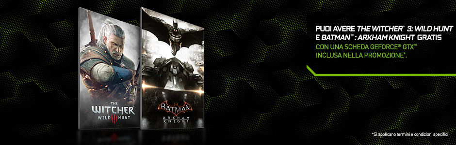 Batman: Arkham Knight e The Witcher 3: Wild Hunt in bundle con GTX 980 e 970